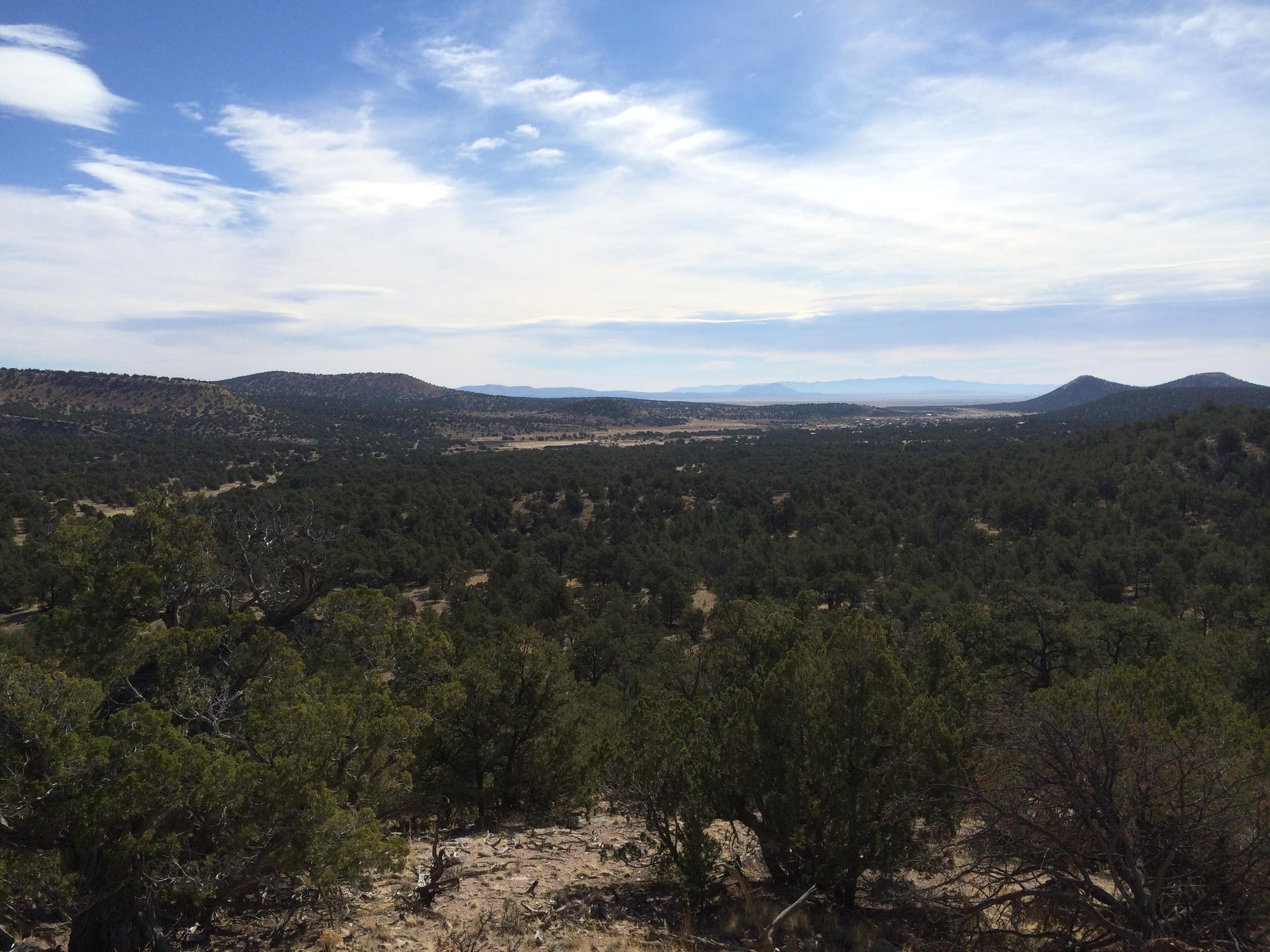 Hiking view ofPlains of San Agustin waaaaaay off in the distance