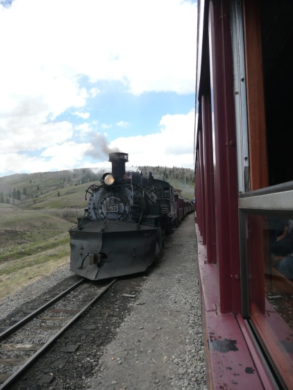 Trains meeting in Osier