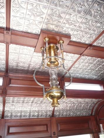 Parlor car ceiling
