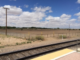 I-25 in the distance (viewed from train station)
