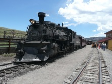 Both trains at Osier