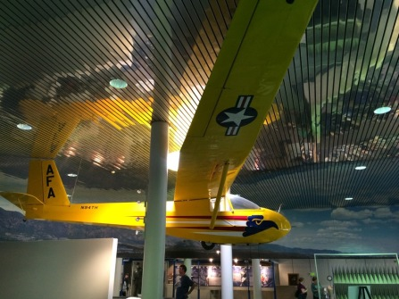 Glider in the visitors center