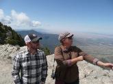 Jason and Kristin ponder our destination - Kiwanis Cabin
