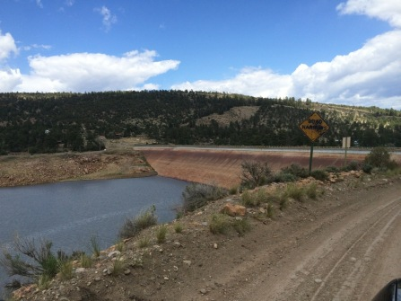 Approaching the El Vado Lake dam