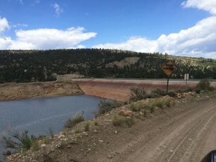 Approaching the El Vado Lake dam