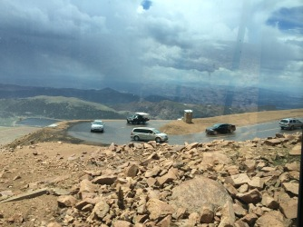 Last switchback of the Pike's Peak Highway