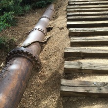 Water pipe that you follow up the hill