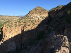 View of the outcropping I hiked to last night