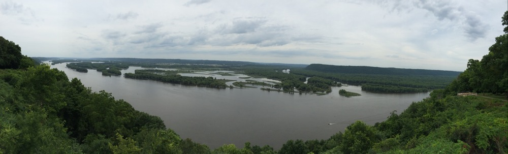 View of the Mississippi from the 500-foot bluffs