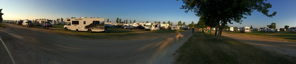 Just some of the hundreds of RVs for RAGBRAI