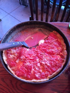 Deep dish Chicago pizza