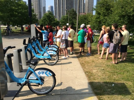 Our first Divvy stop. I don't think so...