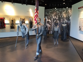 Statues in the Lowndes County Interpretive Center