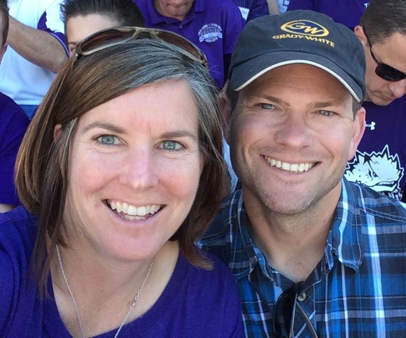 Kathy and i at a tcu game, October 2014
