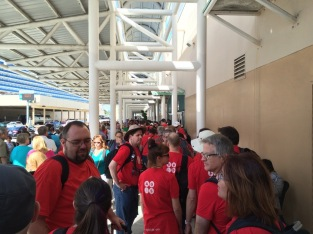 Standing in the enormous line at Port Everglades