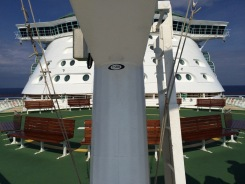 View from the bow looking aft