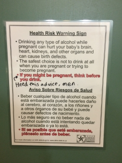 These signs are in all men's restrooms in TX. I like the modification on this one.