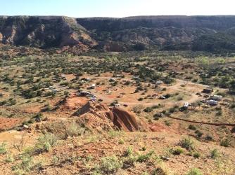 Bird's eye view of Mesquite camp area