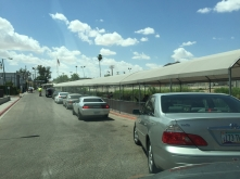 US border crossing - definitely a line
