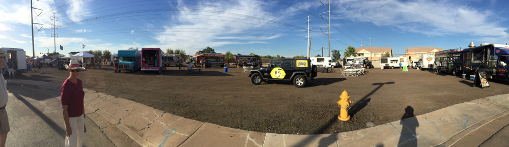 Good sized food truck rodeo