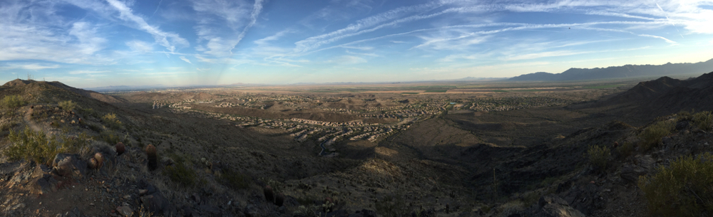 typical view from south mountain hike
