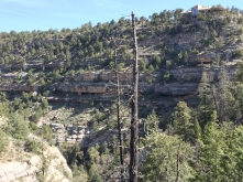 Cliff dwellings below visitors center