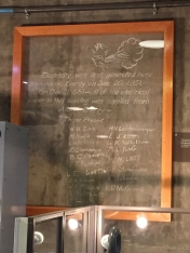 Original chalk on wall commemorating first power generation