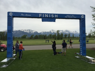 Finish line the day before the race - not a bad view!