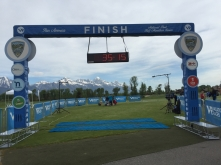 The calm before the storm at the finish