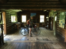 Inside Maude's cabin