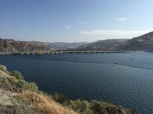 Back side of dam