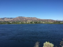 Wenatchee from east side of trail with view of fire damage