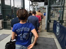 In we go (behind a Blue Jays fan)