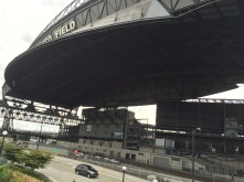 Retractable roof - retracted