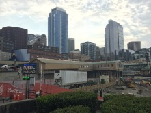 Looking back at Pike Place Market