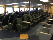 Interior of ferry