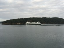Passing another ferry