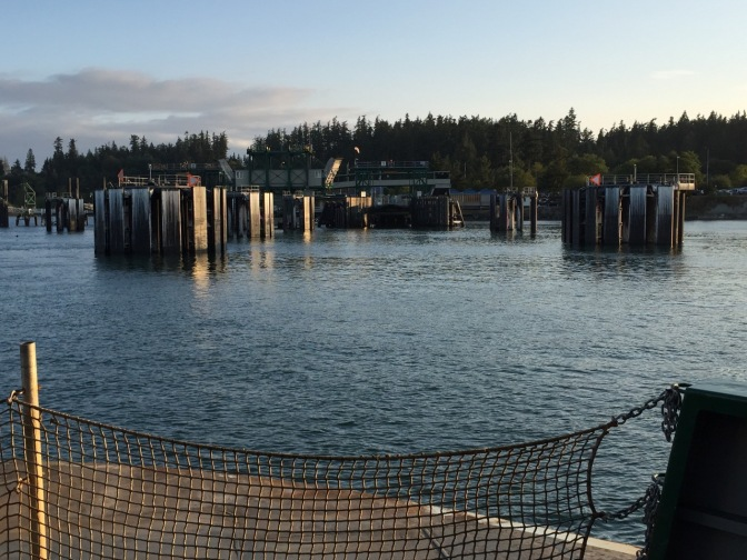 Approaching Anacortes ferry landing