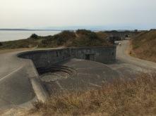 Empty gun emplacement