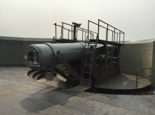 10-inch gun in loading position