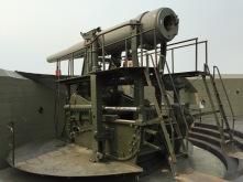 10-inch gun in firing position