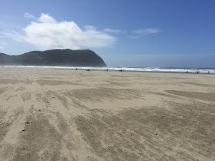 Seaside beach looking towards Ecola State Park