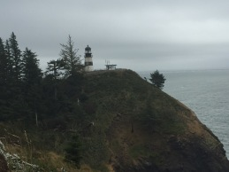 Cape Disappointment Lighthouse and Coast Guard observation building