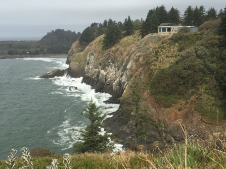 Lewis and Clark Interpretive Center from Cape Disappointment Lighthouse