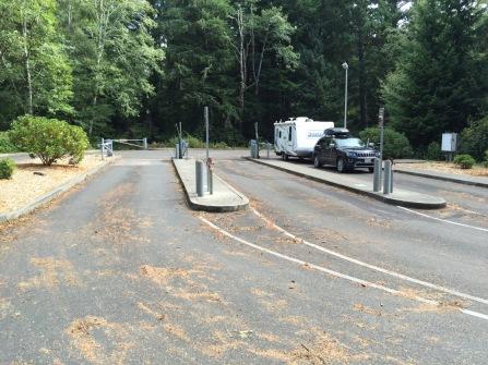 Three dump station lanes