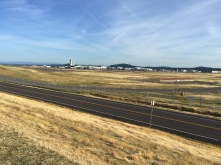 Portland airport from the trail