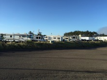 Front row of dry camping area