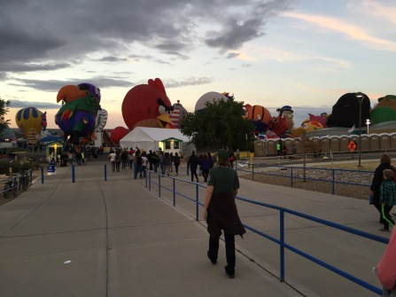 Entering balloon field