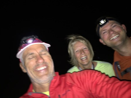 Jeff and Deb joining me on a night hike.