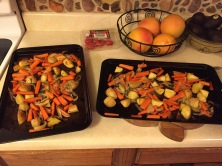 Baked veggies